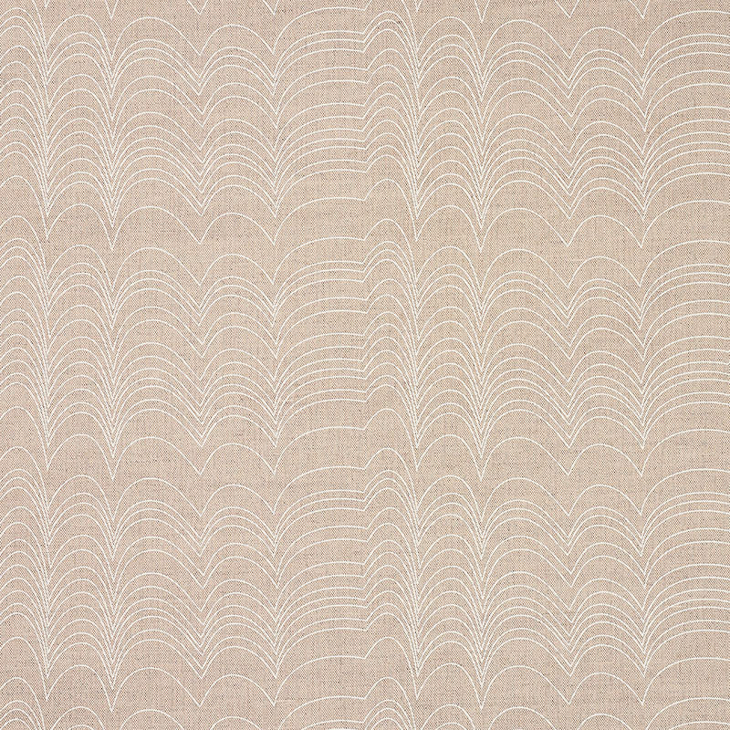 Schumacher Fabric 177113 Richter Ivory & Natural