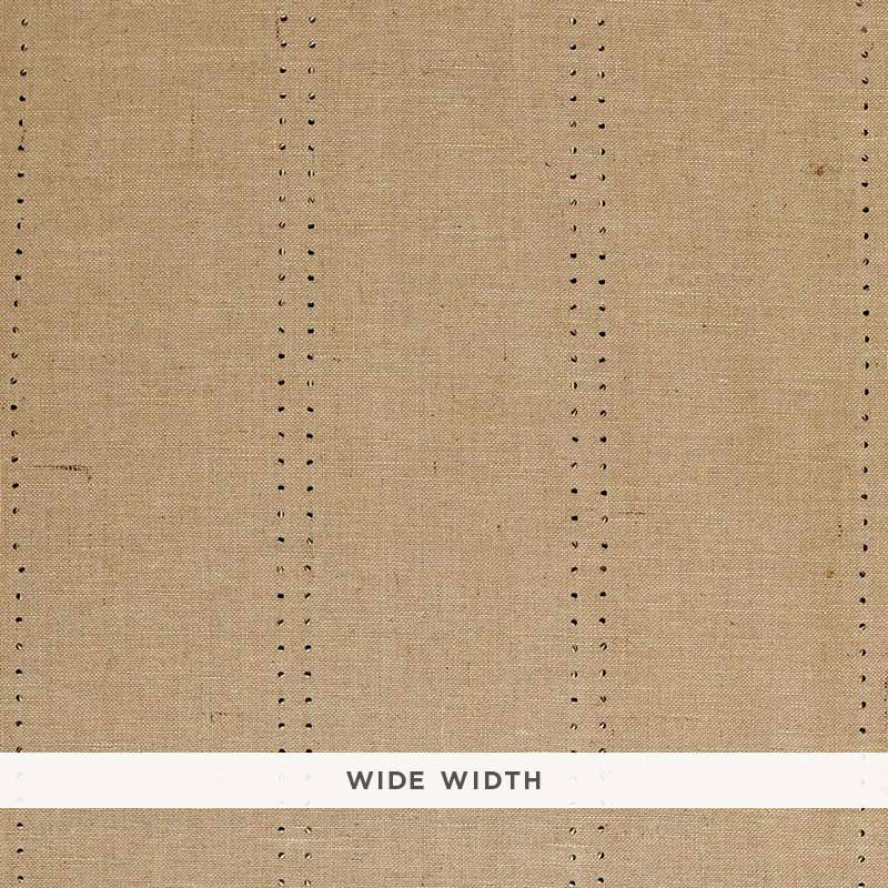 Schumacher Wallpaper 5006111 Stud Stripe Natural Bronze