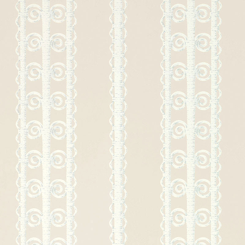 Schumacher Wallpaper 5007720 Wicker Stripe Reed