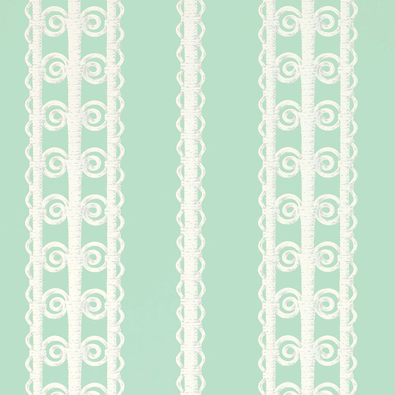 Schumacher Wallpaper 5007723 Wicker Stripe Lovely Day