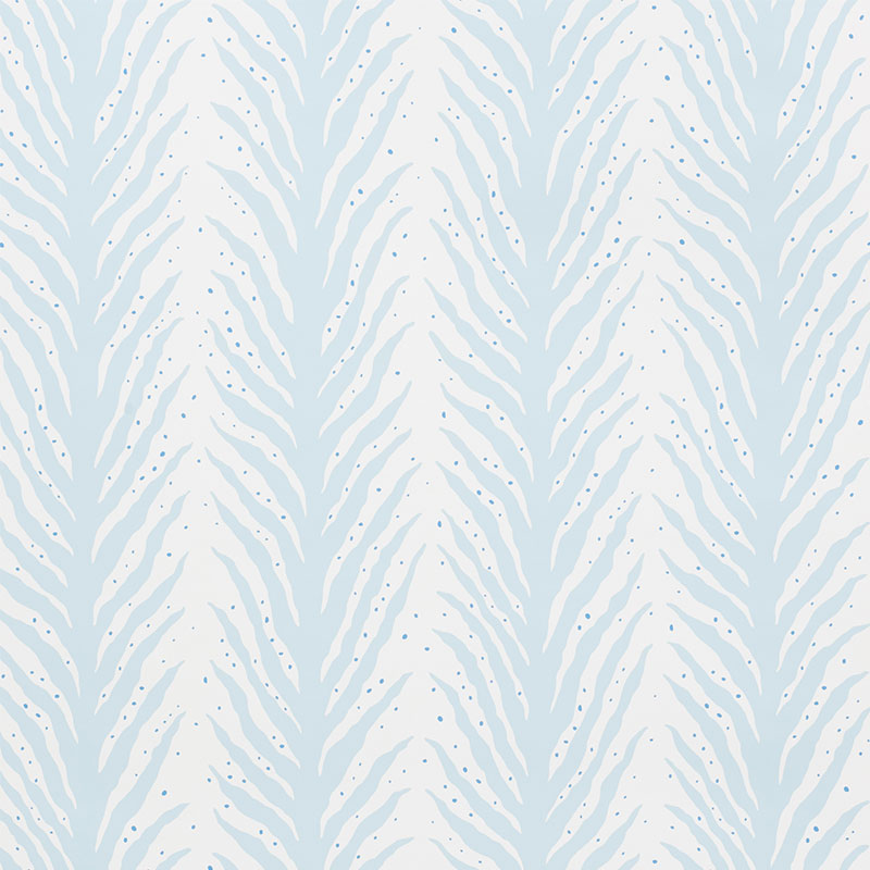 Schumacher Wallpaper 5009451 Creeping Fern Slumber Blue - Inside Stores