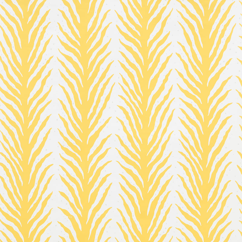Schumacher Wallpaper 5009452 Creeping Fern Lemonade - Inside Stores