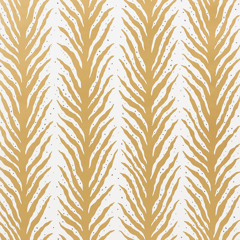 Schumacher Wallpaper 5009453 Creeping Fern Gold - Inside Stores