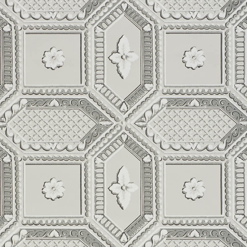 Schumacher Wallpaper 5009900 Lacunaria Dove - Inside Stores