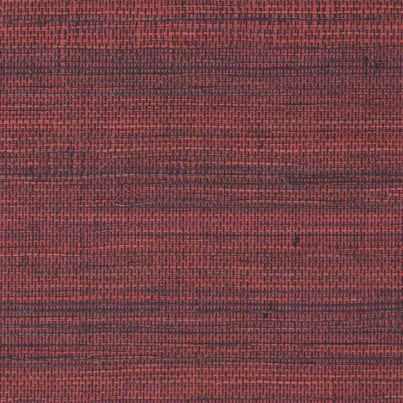 Phillip Jeffries Wallpaper 5547 Soho Hemp II Firework Red - Inside Stores