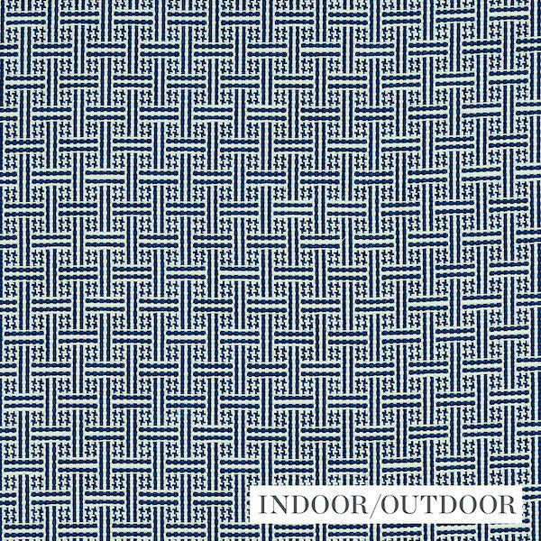Schumacher Fabric 75936 Brickell Navy