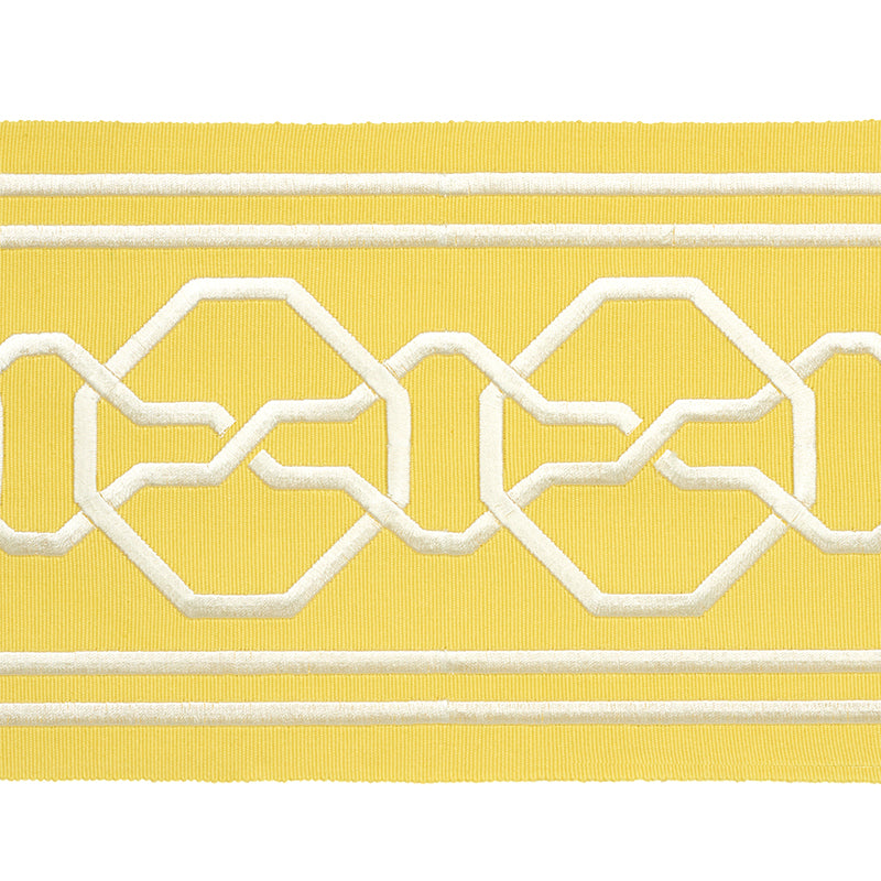 Schumacher Fabric Trim 77352 Malmaison Tape Yellow