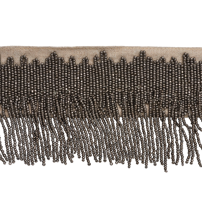 Schumacher Fabric Trim 77370 Starling Beaded Fringe Pewter