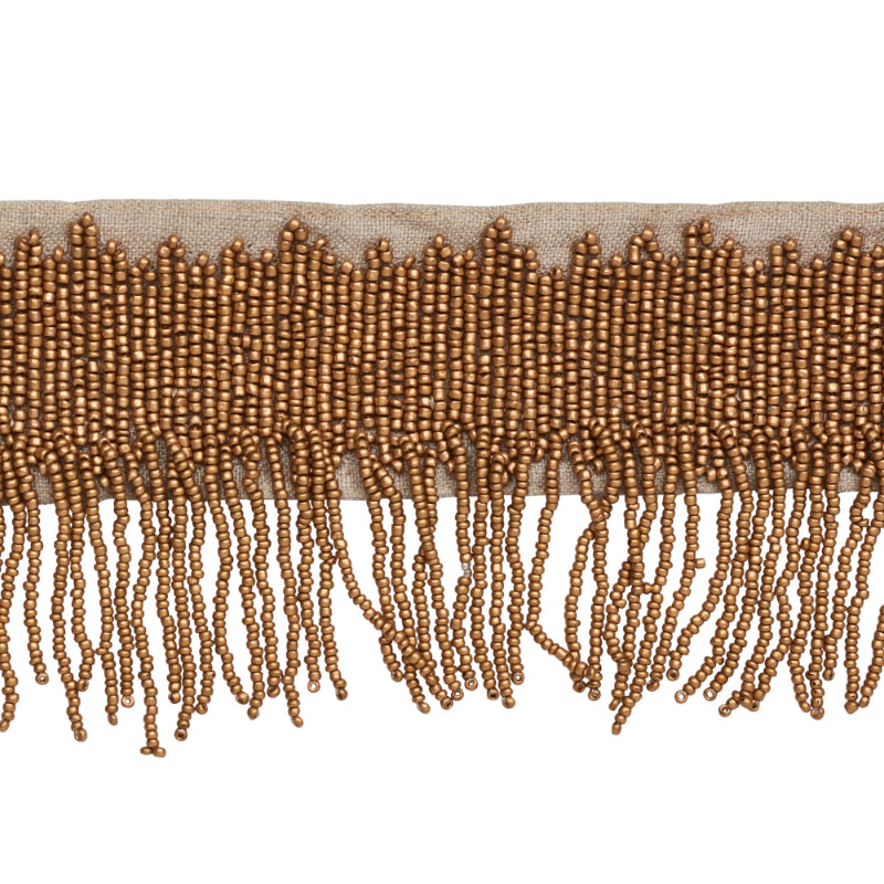 Schumacher Fabric Trim 77372 Starling Beaded Fringe Gold