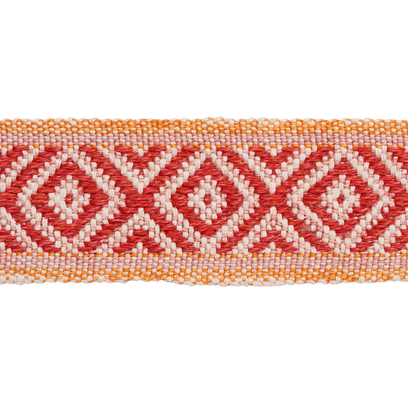 Schumacher Fabric Trim 77462 Larson Tape Red & Orange