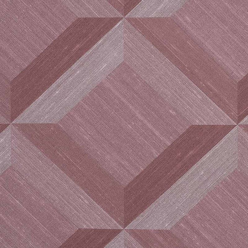 Phillip Jeffries Wallpaper 7899 Vinyl Mindful Mosaic Rosy Reflection - Inside Stores