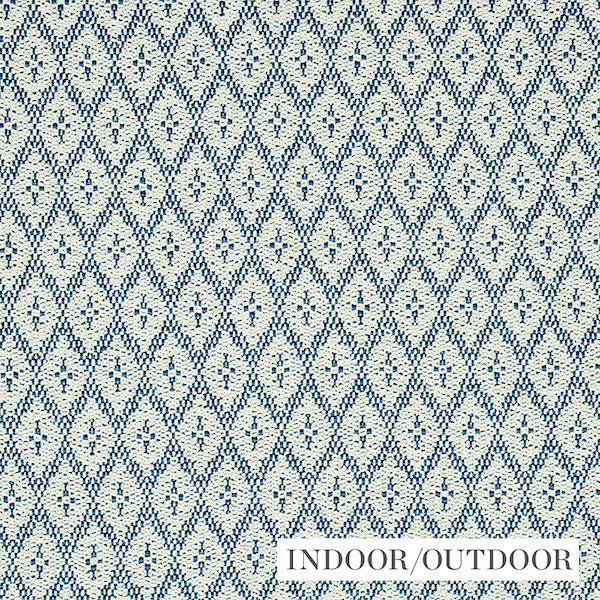 Schumacher Fabric 79170 Olmsted Indoor/Outdoor Blue