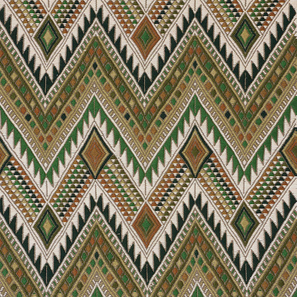 Schumacher Fabric 79243 Coyolate Hand Woven Brocade Green