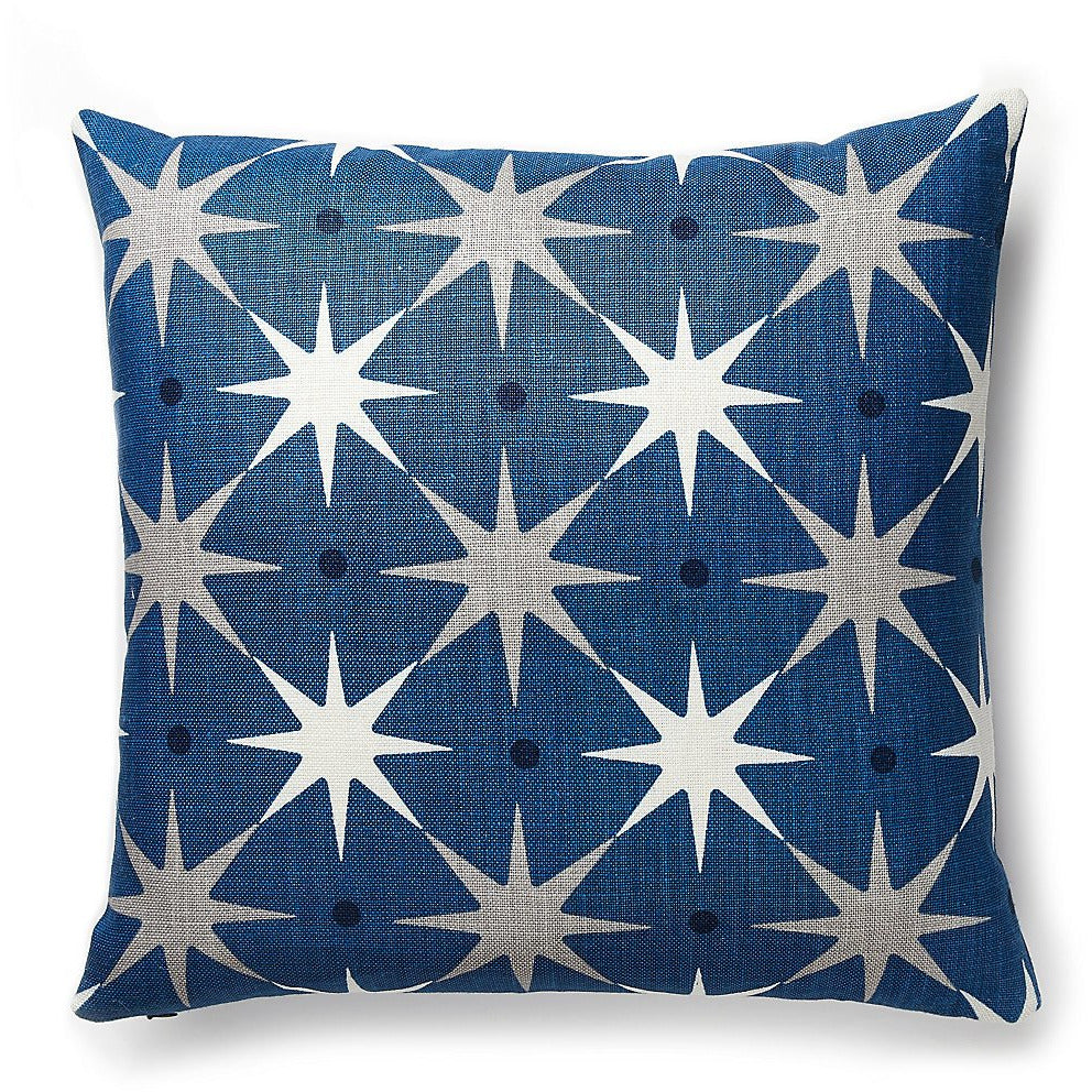 "Star Power Navy 22"" Pillow by Scalamandre"