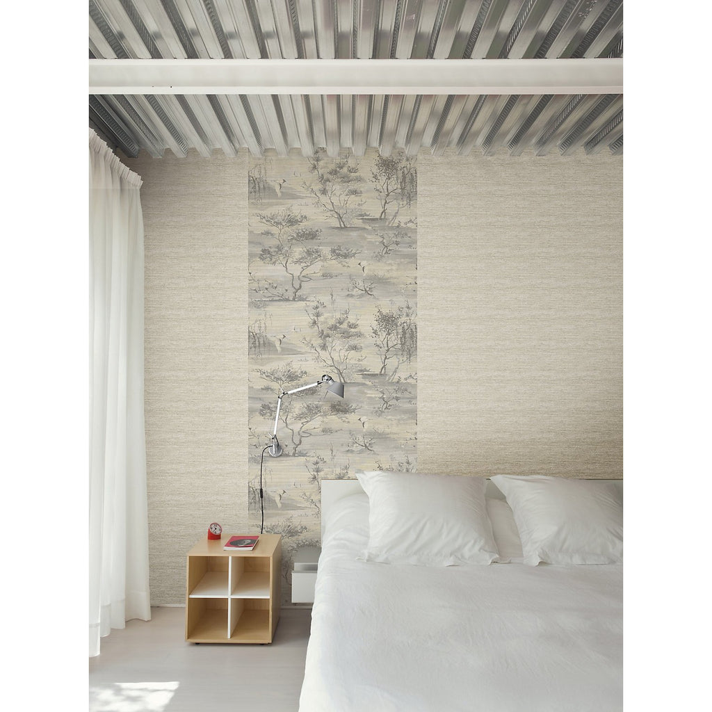 Scalamandre Wallpaper SC 0004 WP88451 Sagimai Charcoal - Inside Stores