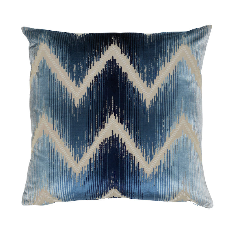 "Shock Wave 18"" Pillow by Schumacher - Inside Stores"