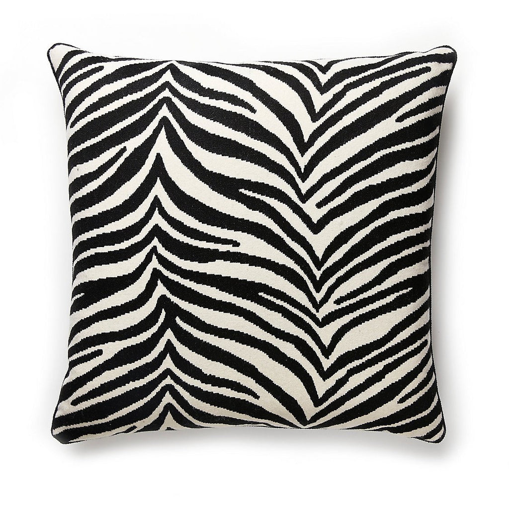 "Singita Pillow in Black & White 22"" Pillow by Scalamandre"