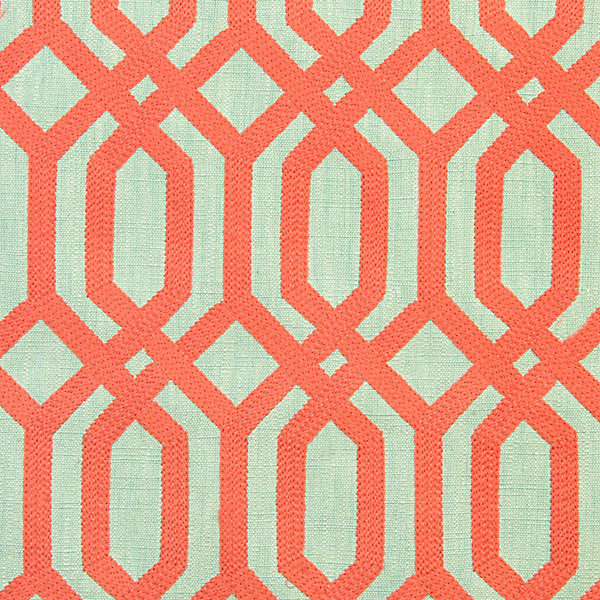 Scalamandre Fabric A91863-004 Trellis Addiction - Inside Stores