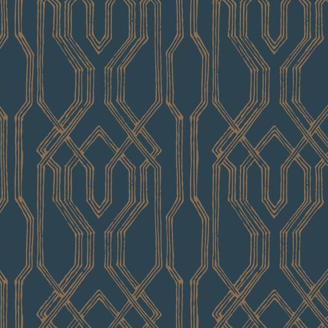 York Wallpaper AF6561 Oriental Lattice - Inside Stores