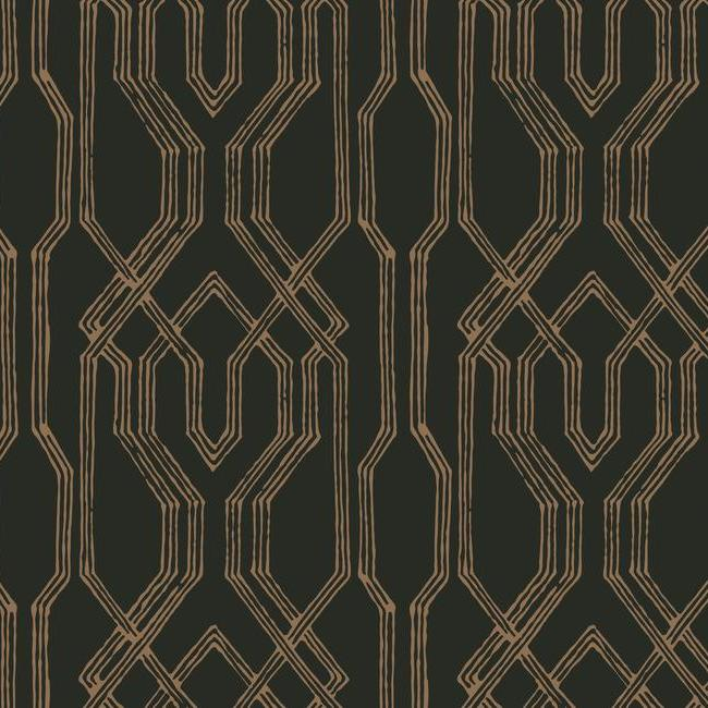 York Wallpaper AF6562 Oriental Lattice - Inside Stores
