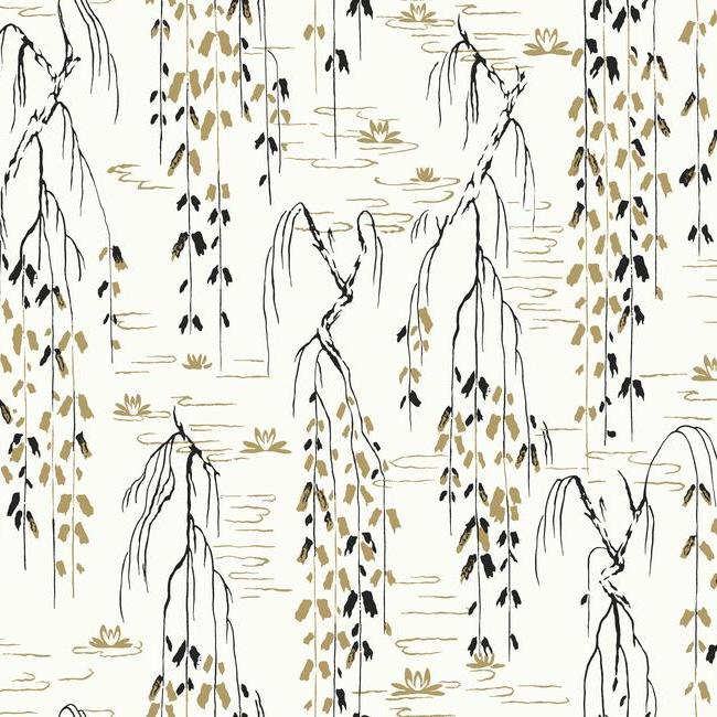 York Wallpaper AF6581 Willow Branches - Inside Stores