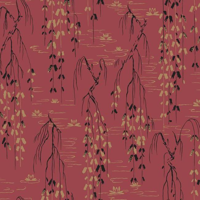 York Wallpaper AF6585 Willow Branches - Inside Stores