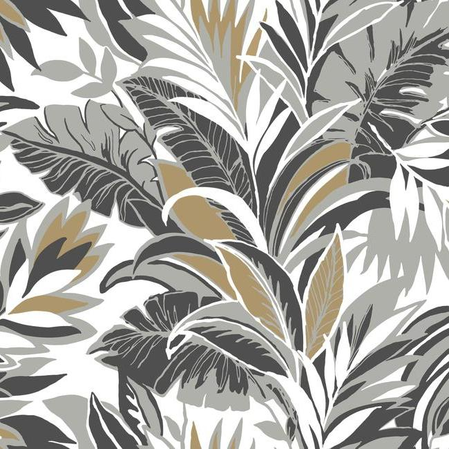 York Wallpaper CY1567 Palm Silhouette - Inside Stores