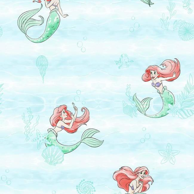 York Wallpaper DI0954 Little Mermaid - Inside Stores
