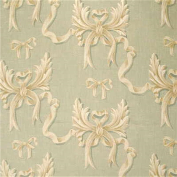 Mulberry Fabric FD248.R13 Ophelia's Bow Pale Aqua