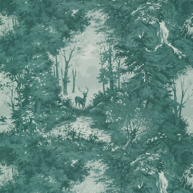 Mulberry Wallpaper FG076.R11 Torridon Teal - Inside Stores