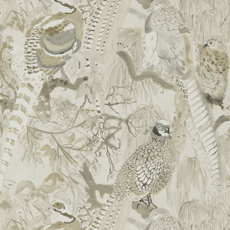 Mulberry Wallpaper FG085.K102 Game Birds Stone - Inside Stores