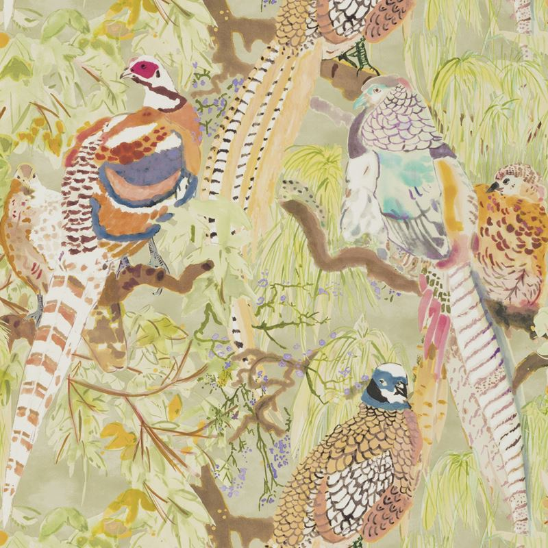 Mulberry Wallpaper FG085.Y101 Game Birds Multi - Inside Stores