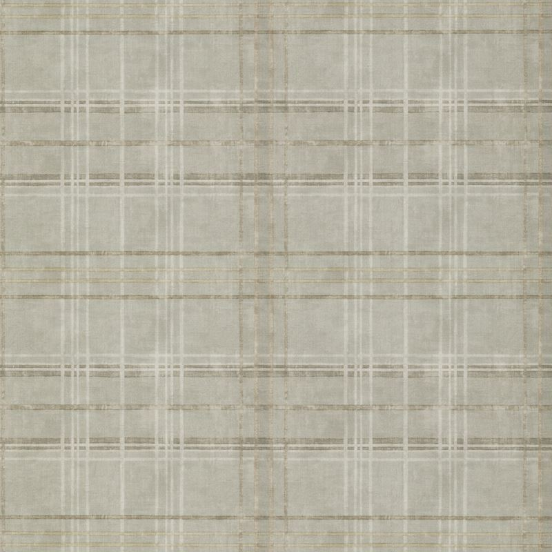 Mulberry Wallpaper FG086.A15 Shetland Plaid Woodsmoke - Inside Stores