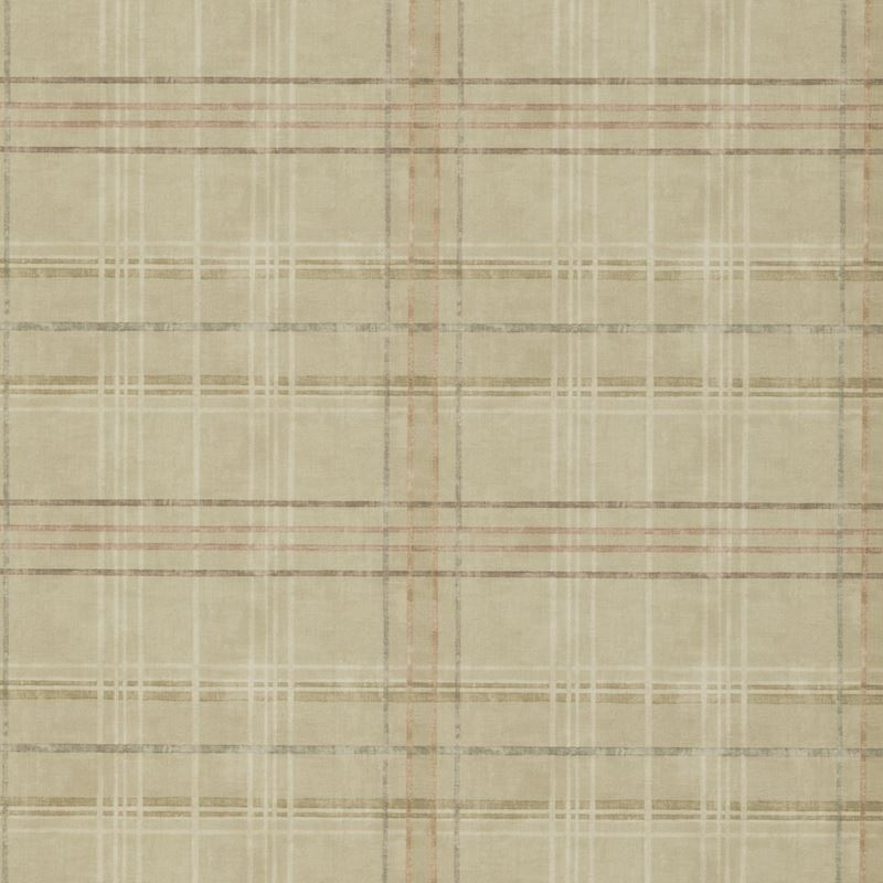 Mulberry Wallpaper FG086.N102 Shetland Plaid Sand - Inside Stores