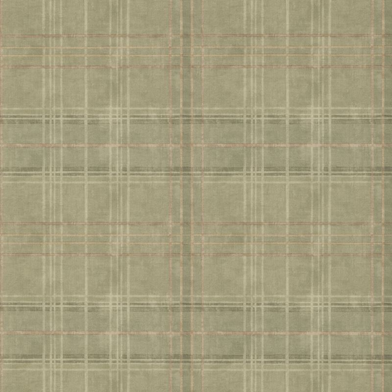 Mulberry Wallpaper FG086.R106 Shetland Plaid Lovat - Inside Stores
