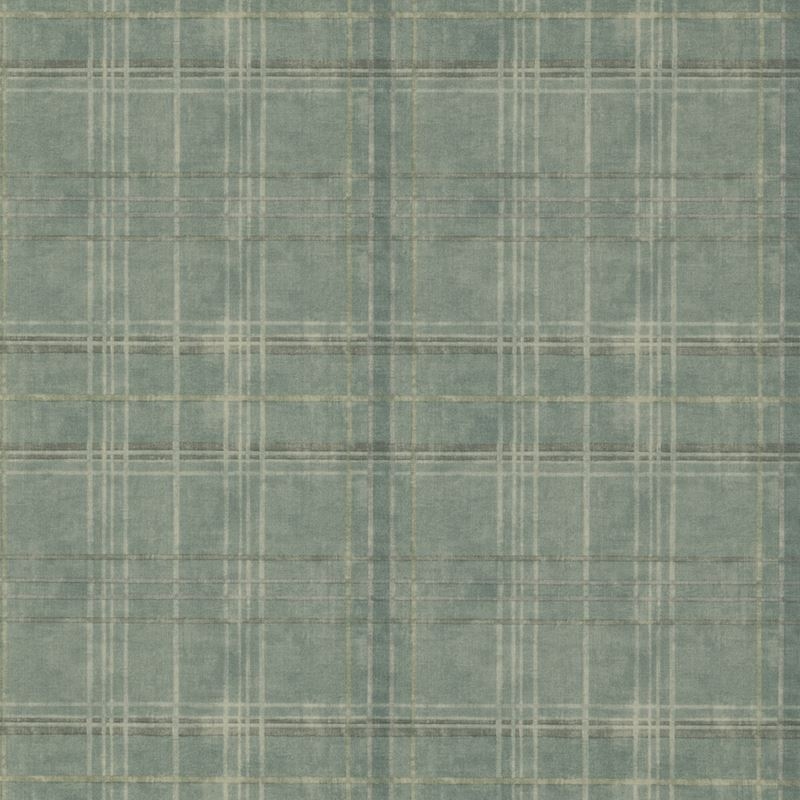 Mulberry Wallpaper FG086.R11 Shetland Plaid Teal - Inside Stores