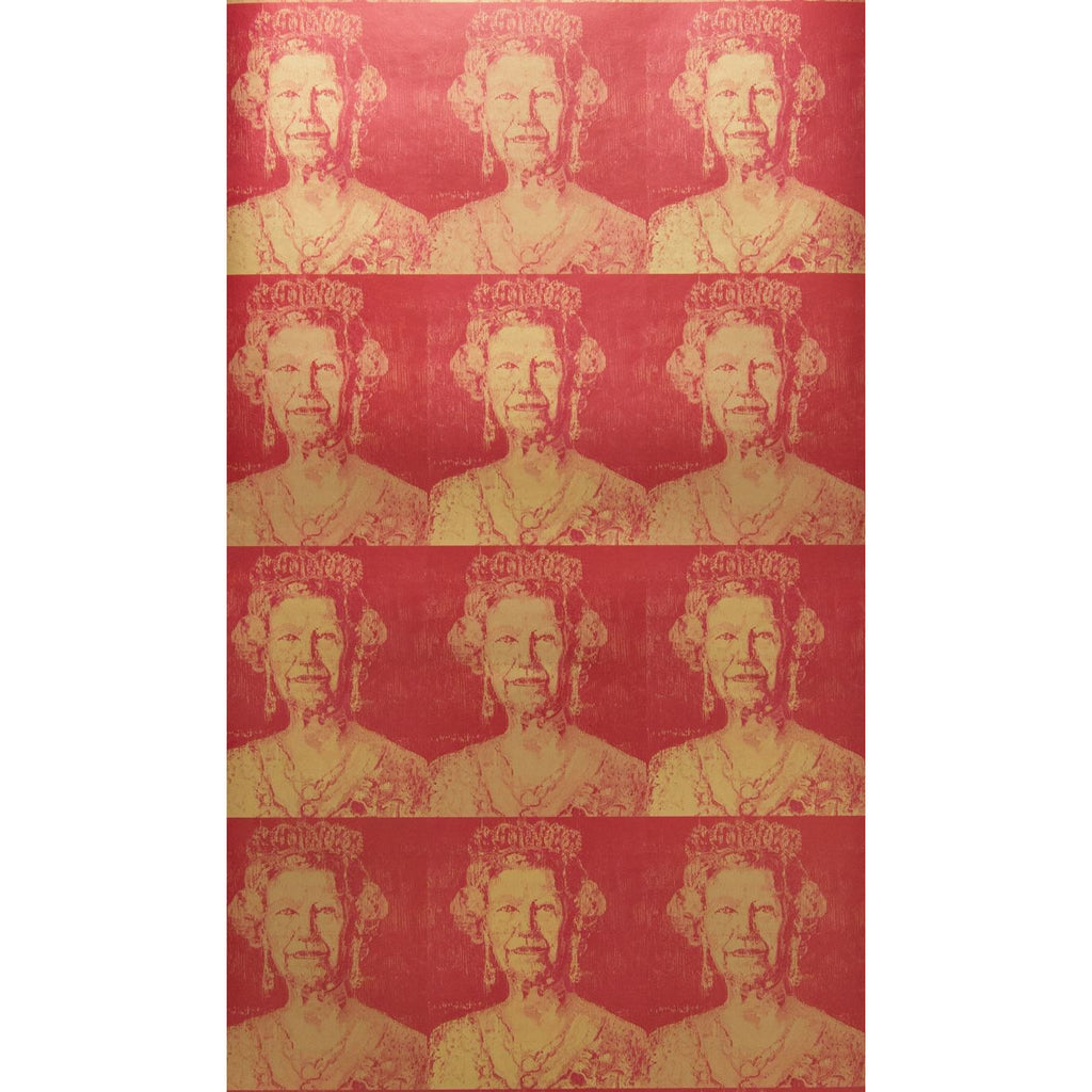 Groundworks Wallpaper GWP-3707.194 Hrh Gilt Red/Gold - Inside Stores
