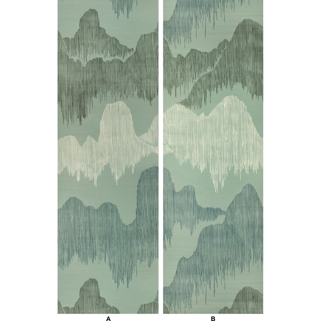 Groundworks Wallpaper GWP-3715.113 Cascadia Paper Teal