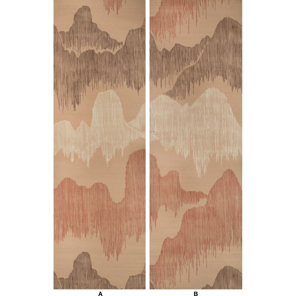 Groundworks Wallpaper GWP-3715.171 Cascadia Paper Blush