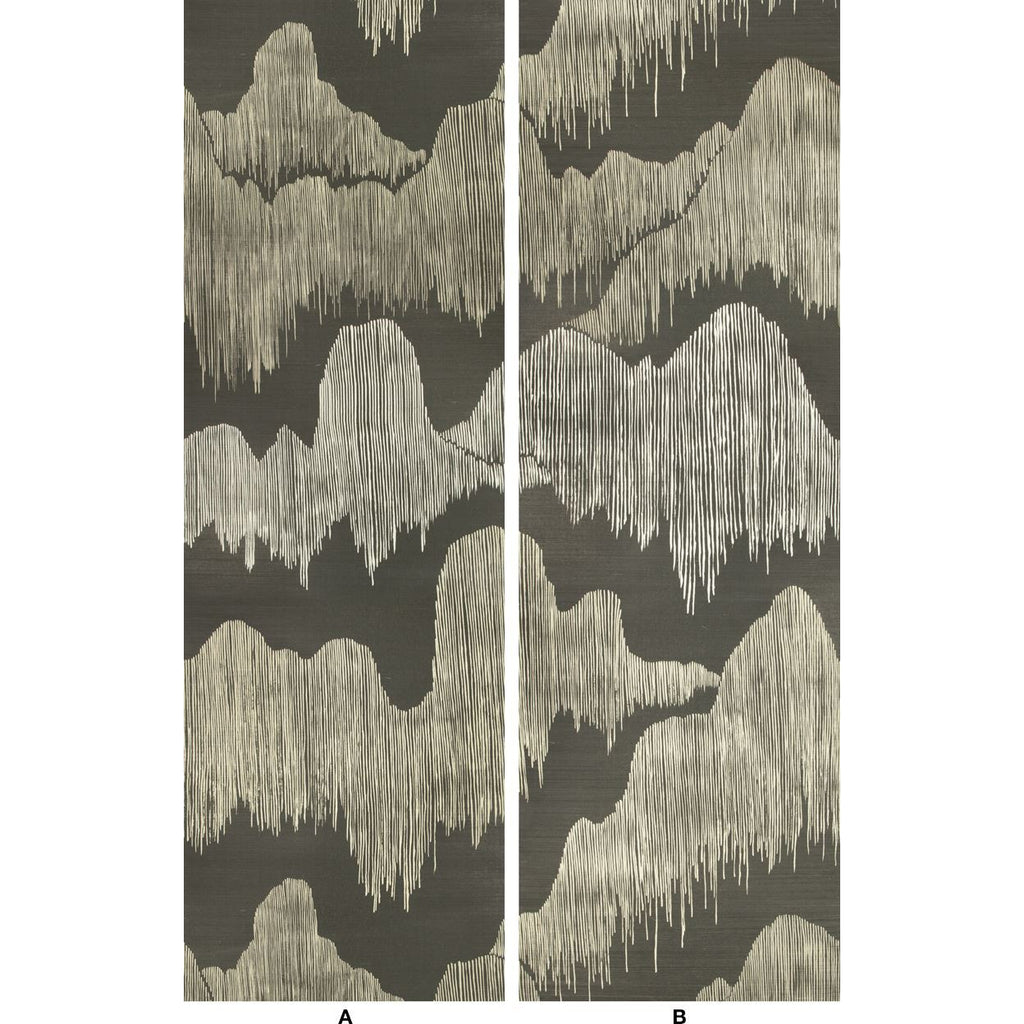 Groundworks Wallpaper GWP-3715.811 Cascadia Paper Noir - Inside Stores