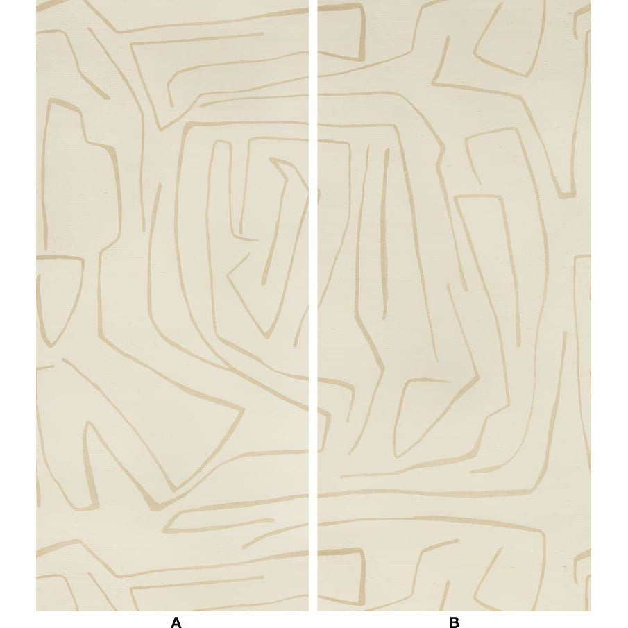 Groundworks Wallpaper GWP-3720.116 Graffito Ii Parchment