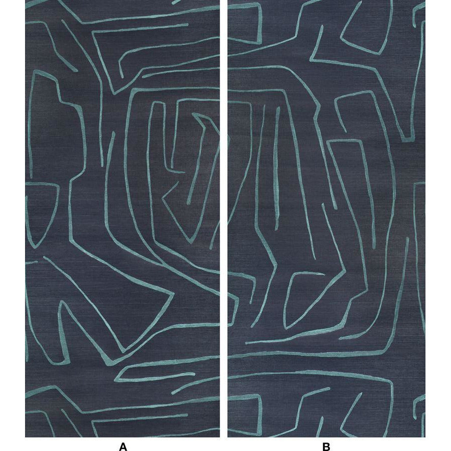 Groundworks Wallpaper GWP-3720.505 Graffito Ii Navy - Inside Stores