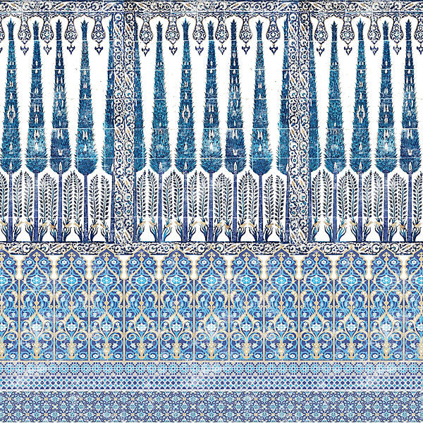 Scalamandre Fabric N4TO1C-014 Topkapi Garden Cotton - Inside Stores