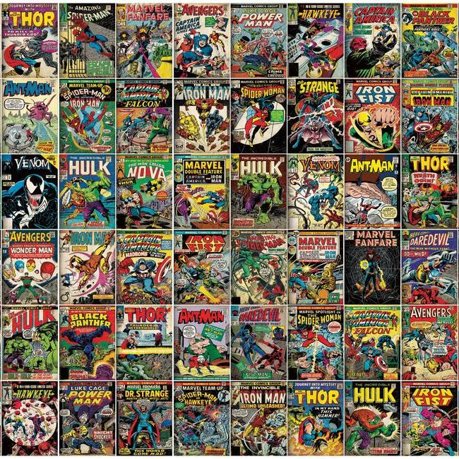 York Wallpaper RMK11410M Marvel Comic Cover Mural - Inside Stores