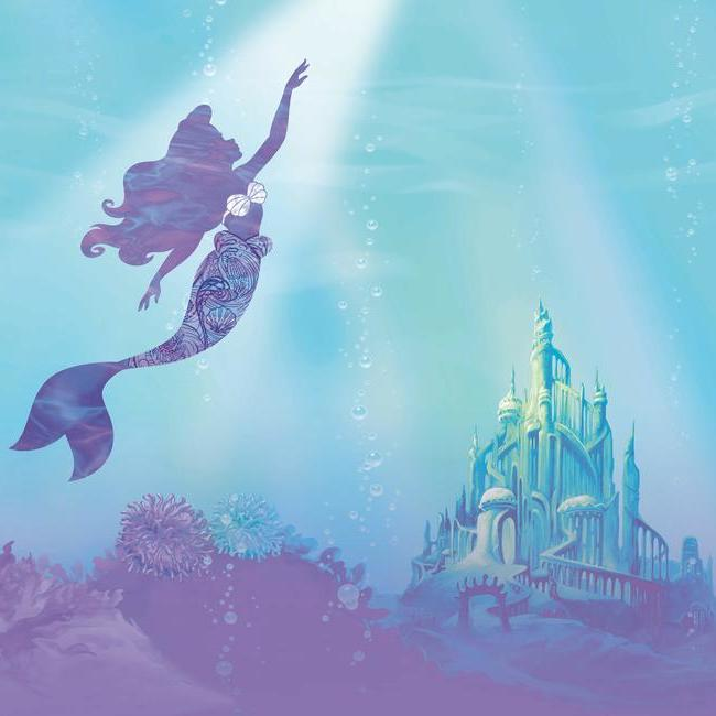 York Wallpaper RMK11413M Disney The Little Mermaid Under The Sea Mural - Inside Stores