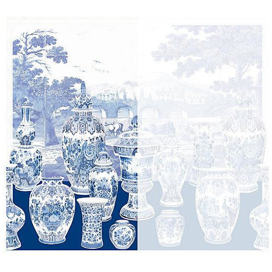 Scalamandre Wallpaper WNMGSNL-002 Garniture Scenic No Tulips-Blue Left Panel