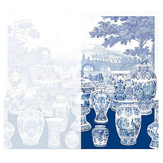 Scalamandre Wallpaper WNMGSNR-002 Garniture Scenic No Tulips-Blue Right Panel