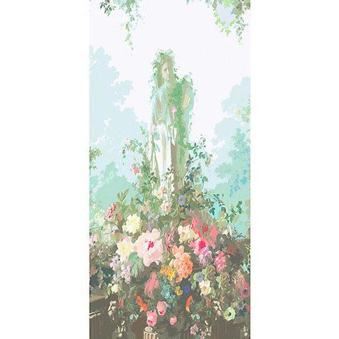 Scalamandre Wallpaper WNMJARS-001 Jardin Defosse - Statue Chantilly Panels - Inside Stores