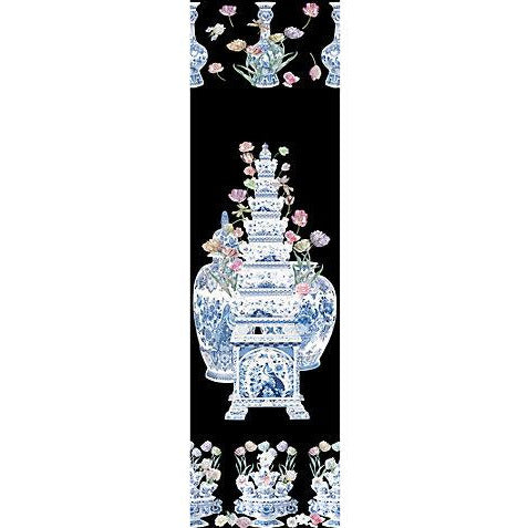 Scalamandre Wallpaper WNMTULI-002 Tulipiere Flowers Black - Inside Stores