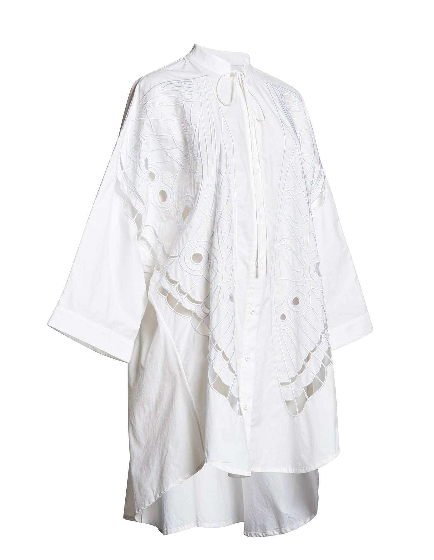 BRODERIE BUTTERFLY SHIRT DRESS